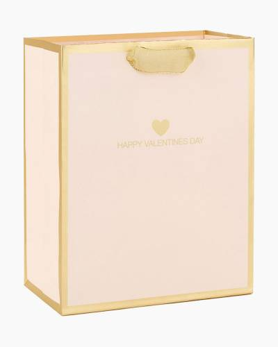 Blush Pink Happy Valentine's Day Medium Gift Bag, 9.5""