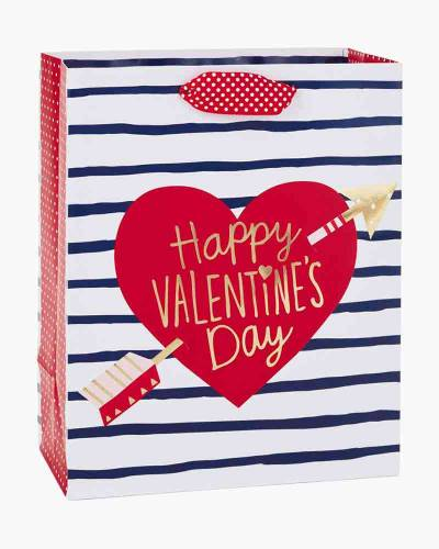 Happy Valentine's Day Heart Medium Gift Bag, 9.5""