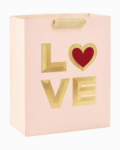 Blush Pink Love Large Gift Bag, 13""