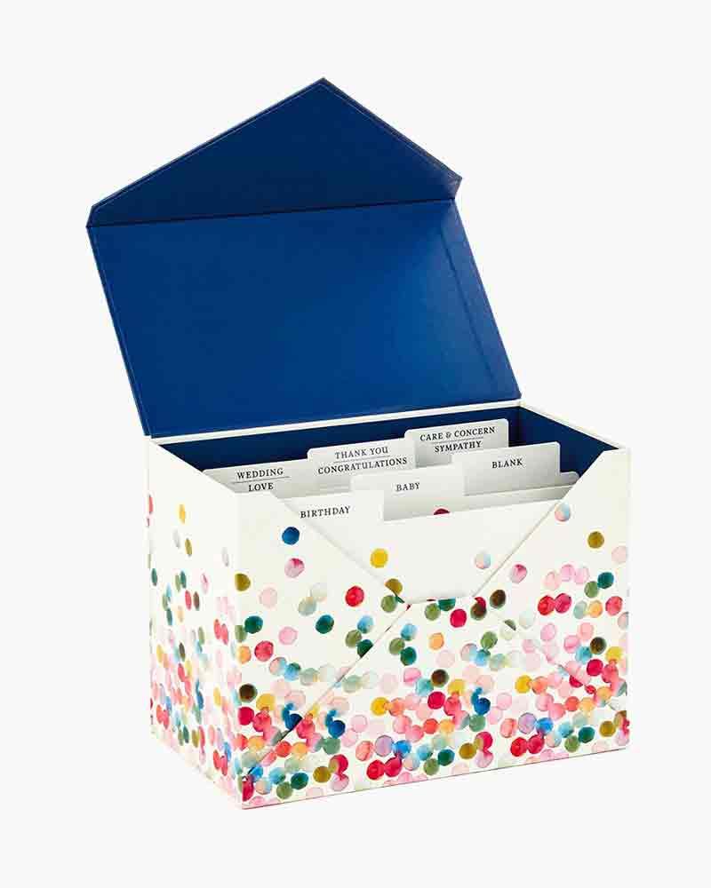 Hallmark Assorted Everyday Cards Organized In Storage Box Box Of 24