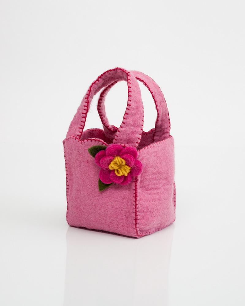 Hallmark Pink Flower Felt Gift Bag The Paper Store