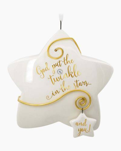 hallmark godchild you shine porcelain ornament - Hallmark Christmas Decorations 2017