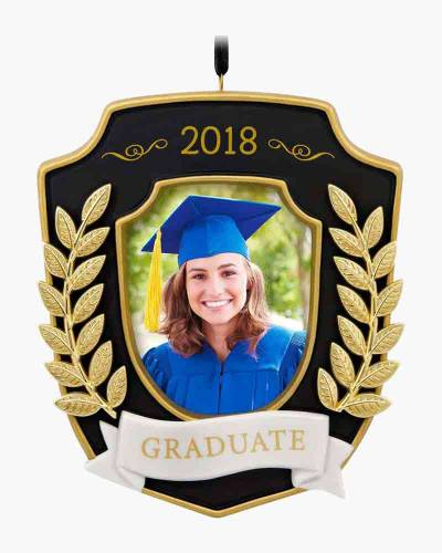 2018 Graduate Porcelain and Metal Photo Ornament