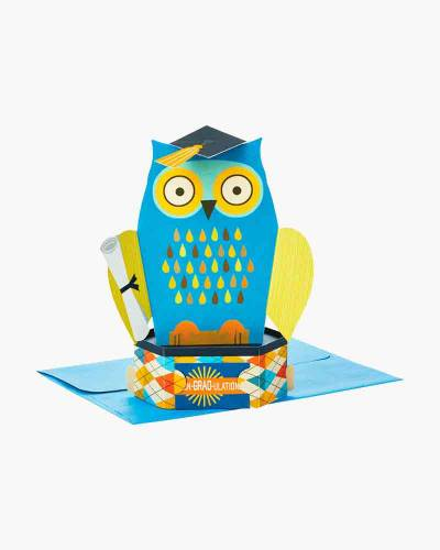 Con-GRAD-ulations Owl Pop Up Graduation Card