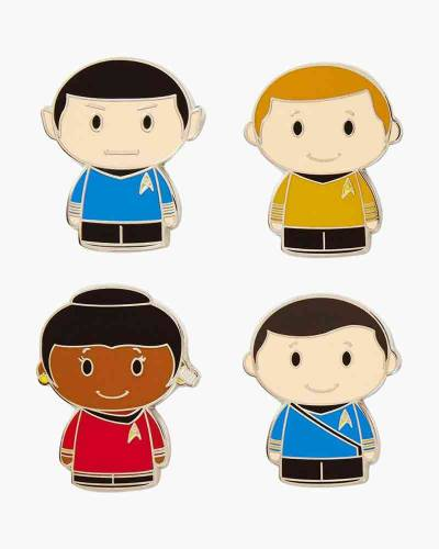 itty bittys Star Trek Collectible Enamel Pins, Set of 4