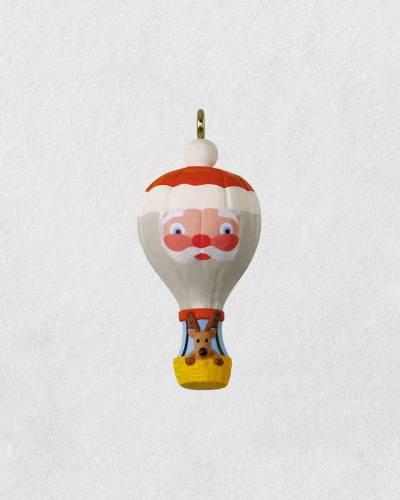 "Mini Up and Away Santa Balloon Ornament, 1.31"""