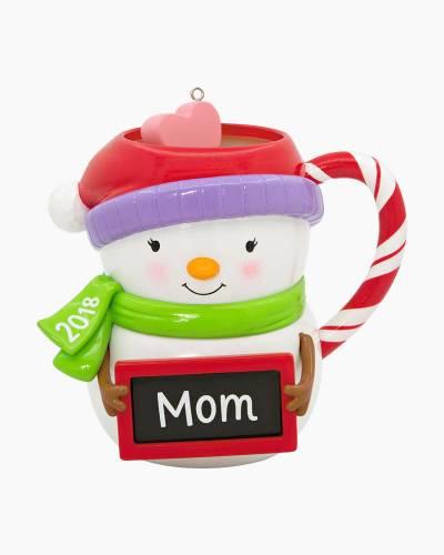 Mom Snowman Mug 2018 Ornament