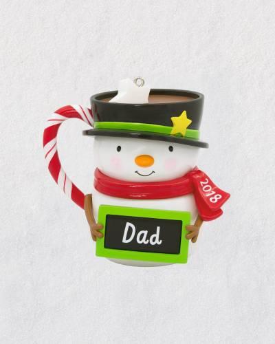 Dad Snowman Mug 2018 Ornament