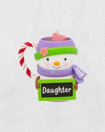 Daughter Snowman Mug 2018 Ornament