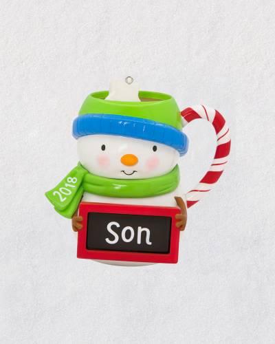 Son Snowman Mug 2018 Ornament