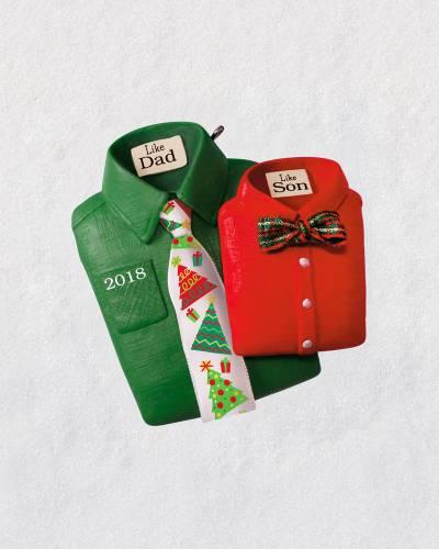 Like Dad, Like Son Shirts and Ties 2018 Ornament