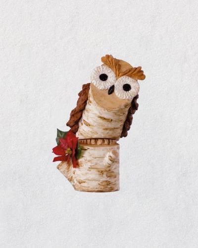 Birch Branch Owl Ornament