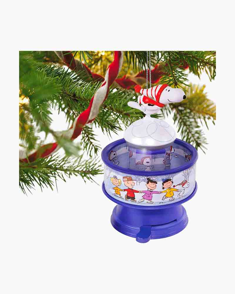 The Peanuts Gang Snoopy Skates! Musical Ornament With Light and Motion Alternate View