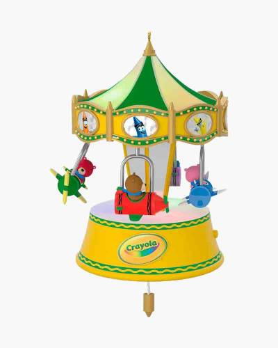 Crayola A Beary Colorful Ride Airplane Musical Ornament With Light and Motion