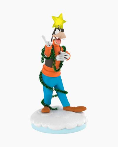 Disney Christmas Carolers Gleeful Goofy Musical Ornament With Light and Motion
