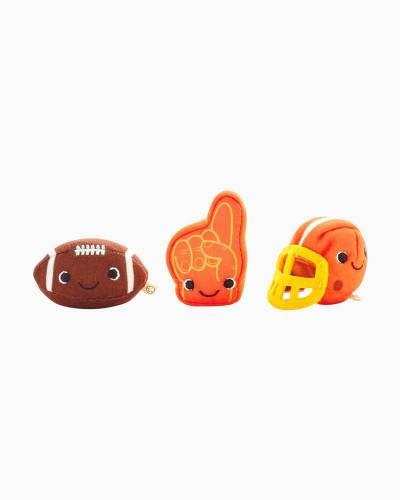 Happy Go Luckys Football Friends Mini Stuffed Animals, Set of 3