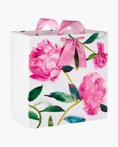 Pink Peonies on Ivory Extra-Deep Gift Bag