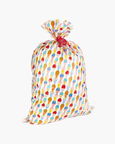 Birthday Ice Cream Plastic Giant Gift Bag With Gift Tag and Tie (56-inch)