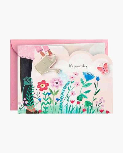 Lovely Day Flower Garden Mini Pop Up Birthday Card