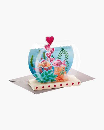 Lucky In Love Fishbowl Pop Up Anniversary Card