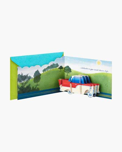 Celebrate in Classic Style Car Pop Up Birthday Card