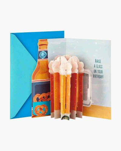 Cheers to You Beer Pop Up Birthday Card