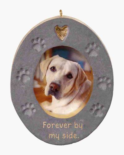 Forever By My Side Pet Memorial Concrete Photo Frame Ornament