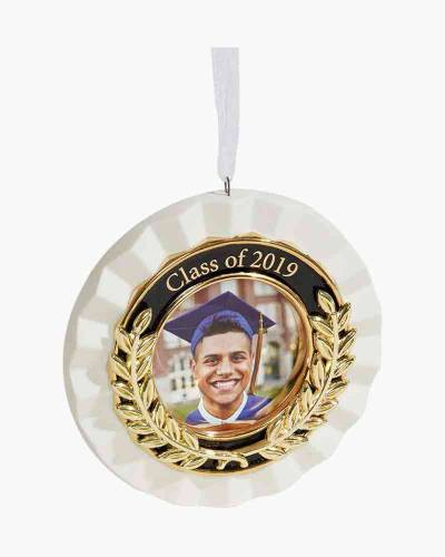 Congrats, Grad! 2019 Porcelain and Metal Photo Frame Ornament
