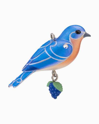 Mini Eastern Bluebird Ornament, 1.16""
