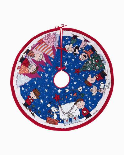 Peanuts A Charlie Brown Christmas Tree Skirt With Light