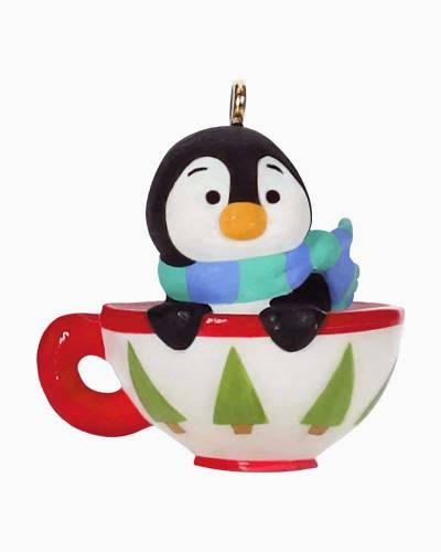 """Mini Petite Penguins Cozy Cup Ornament, 0.95"""""""