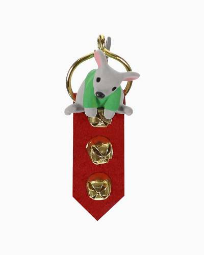 Mini A Creature Was Stirring Mouse on Door Hanger Ornament, 1.88""