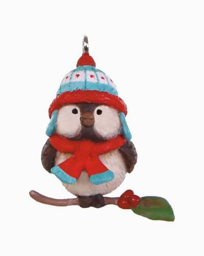 Mini Cozy Lil' Critters Bird Ornament, 1""