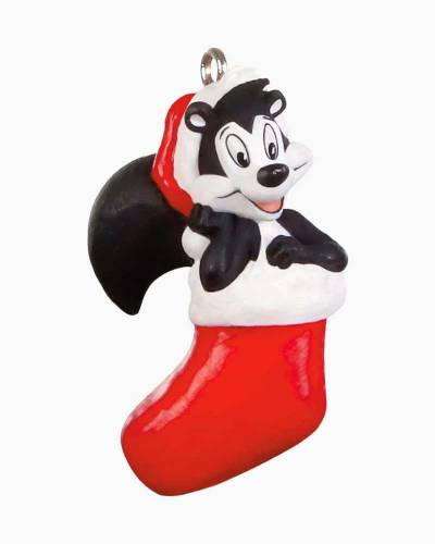 "Mini Looney Tunes Pep頌e Pew Kiss-Mas Greetings Ornament, 1.2"""