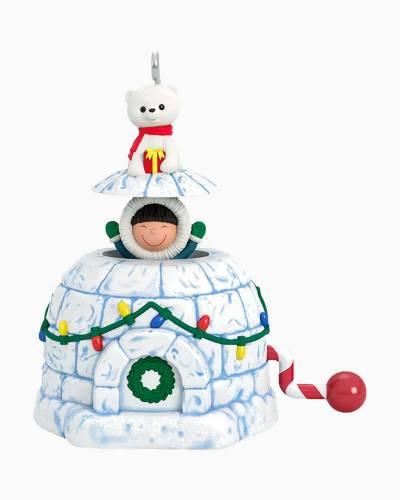 "Mini Frosty Surprise Ornament, 1.83"""