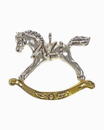"""Mini Classy Lil' Rocker Rocking Horse Metal Ornament, 1"""""""