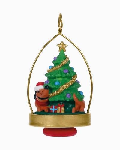 "Mini Chasing His Tail Dachshund Ornament, 1.87"""