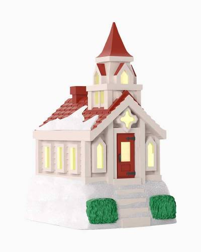 Mini Little Country Church Ornament With Light, 1.65""