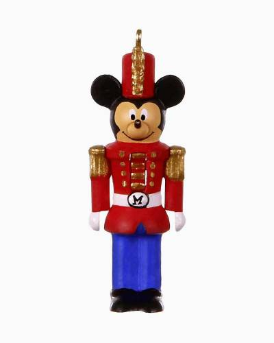 "Mini Disney Mickey Mouse Nutcracker Mickey Ornament, 1.31"""