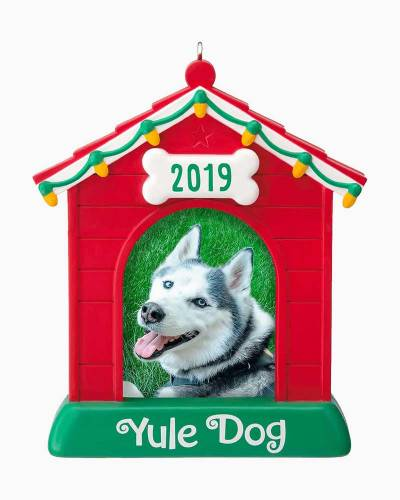 Yule Dog 2019 Dog House Photo Frame Ornament