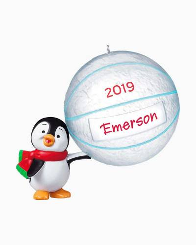 Basketball Star Penguin 2019 DIY Personalization Ornament