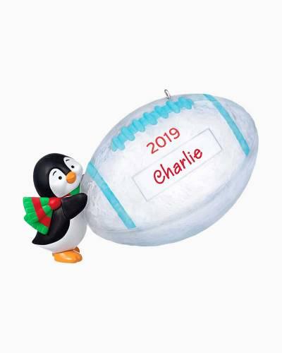 Football Star Penguin 2019 DIY Personalization Ornament