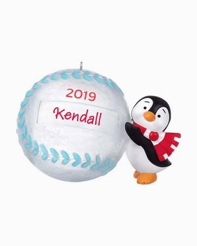 Baseball Star Penguin 2019 DIY Personalization Ornament