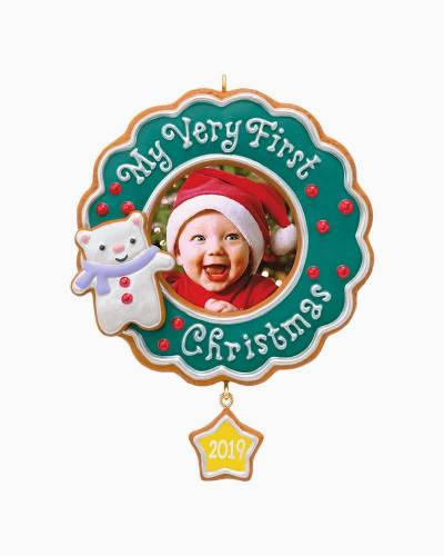 My Very First Christmas Baby 2019 Photo Frame Ornament