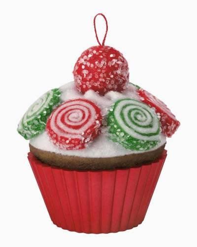 Christmas Cupcakes Pinwheel Sweetness Ornament