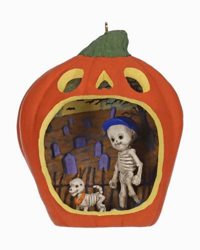 Happy Halloween! Skeleton Halloween Ornament