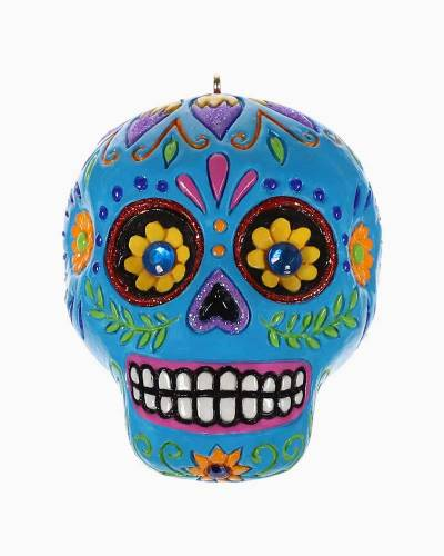 Spooky Sugar Skull Halloween Ornament