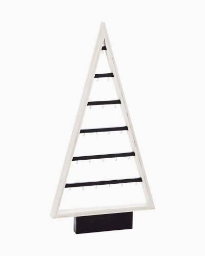 """Small Wooden Miniature Ornament Display Tree, 15.5"""""""