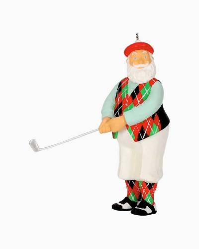 Good-Looking Golfer Santa Ornament