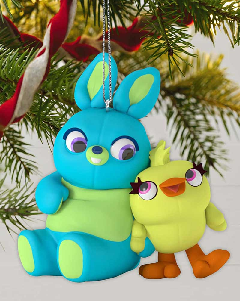 Toy Story Christmas Ornaments.Disney Pixar Toy Story 4 Ducky And Bunny Ornament